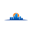 city building new york logo vector image