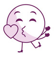 in love face emoticon kawaii character vector image