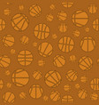 basketball creative logo seamless pattern vector image