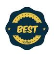 Best offer label in vintage style vector image