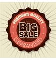 big sale premium quality badge white background vector image