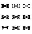 black bow ties icon set vector image