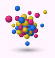 3d spheres geometric background vector image vector image