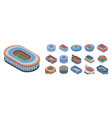 arena icon set isometric style vector image vector image