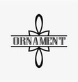 art deco ornamental logo vector image