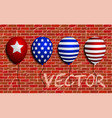 balloons set sign brick wall as vector image