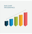 bar chart infographics elements 3d design vector image vector image