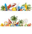 beach borders vector image vector image
