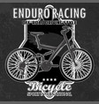 bike emblem with grunge elements vector image