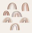 boho rainbow hand drawing set for design vector image