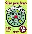 brain shop banner vector image vector image