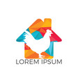 chicken farm house logo concept vector image vector image