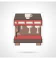 Coffee brewing machine flat design icon vector image vector image