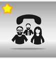 conference call black icon button logo vector image vector image