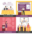 conference hall interior icon set vector image