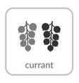 currant icon black berry outline flat sign vector image vector image
