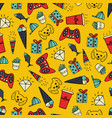 cute hand-drawn seamless pattern vector image