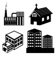 different building vector image vector image
