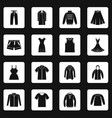 different clothes icons set squares vector image vector image