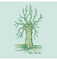 Dry tree without leaves with place for text vector image vector image