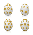 Easter Eggs Decorated with Gold Pattern vector image vector image