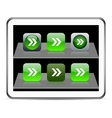 Forward arrow green app icons vector image vector image