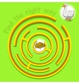 Game labyrinth find a way goose vector image vector image