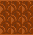 geometric scales pattern in terracotta soil colors vector image