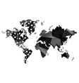 geometric texture world map icon vector image vector image