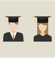 graduation man and woman education students vector image