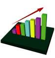 Growing Up Graph vector image vector image