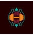 Gym symbol background vector image