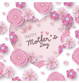 happy mothers day card concept design vector image vector image