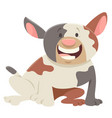 happy spotted dog cartoon character vector image