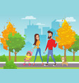 happy young family with vector image vector image
