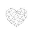 heart love polygon geometric thin line flat vector image vector image