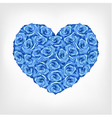 heart of blue rose card valentine wedding day vector image vector image