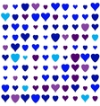 hearts pattern on white background vector image vector image