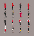hospitality staff characters collection vector image vector image