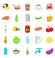 jam icons set cartoon style vector image vector image