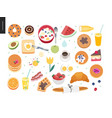 love spring breakfast composition vector image