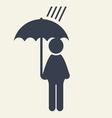 Man with Umbrella icon vector image vector image