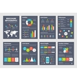 Modern dark business infographic brochure template vector image vector image