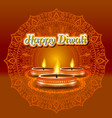modern elegant diwali design with candle with vector image vector image
