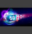 moving forward light flare motion blur background vector image vector image