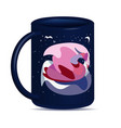 mug with an abstract swan vector image vector image