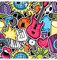 Music party kawaii seamless pattern Musical vector image vector image