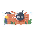 myths and facts information accuracy tiny vector image vector image