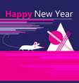 new year greeting card with a mouse vector image