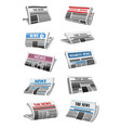 newspaper 3d icon of folded news paper sheet vector image
